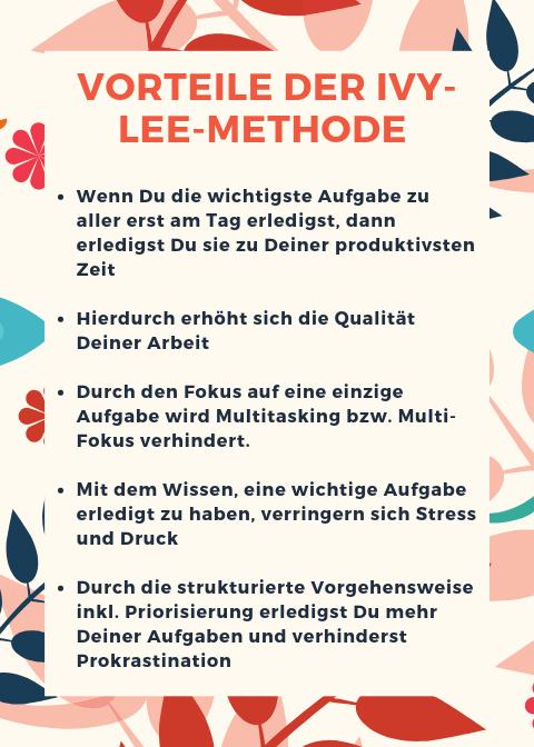 Vorteile der Ivy Lee Methode